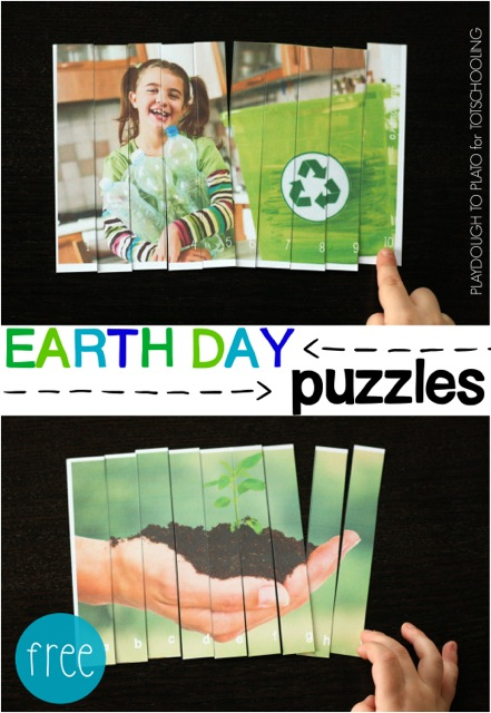 Free Earth Day Puzzles for Kids
