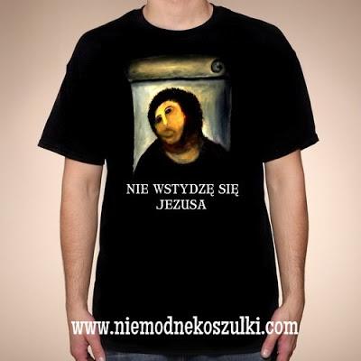 koszulka Nie wstydzę się Jezusa - Jezus z Borja