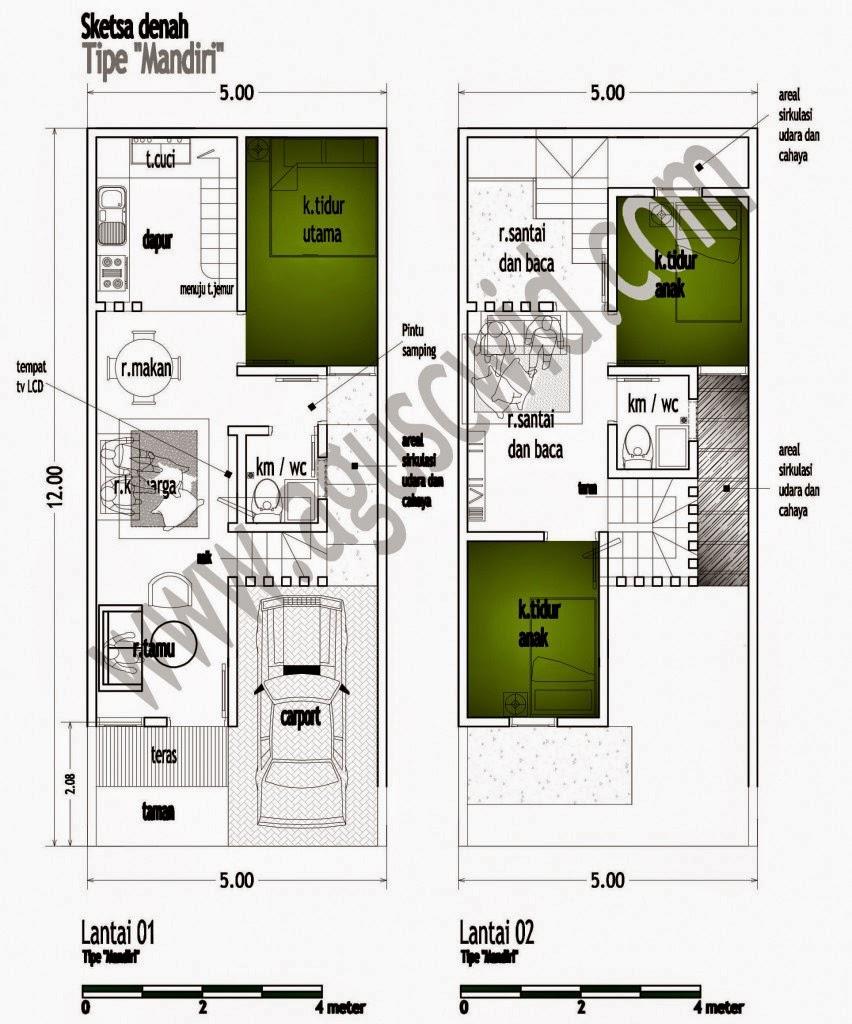 69 Desain Rumah Minimalis 5 X 20 Desain Rumah Minimalis Terbaru