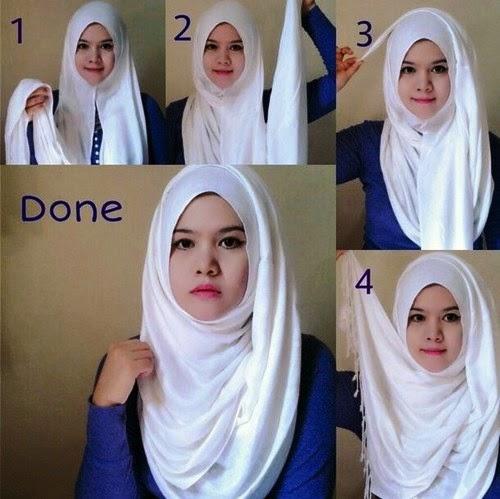 Tiga Tips Memakai Hijab Untuk Wajah Bulat Cara Kerudung Pashmina Terbaru
