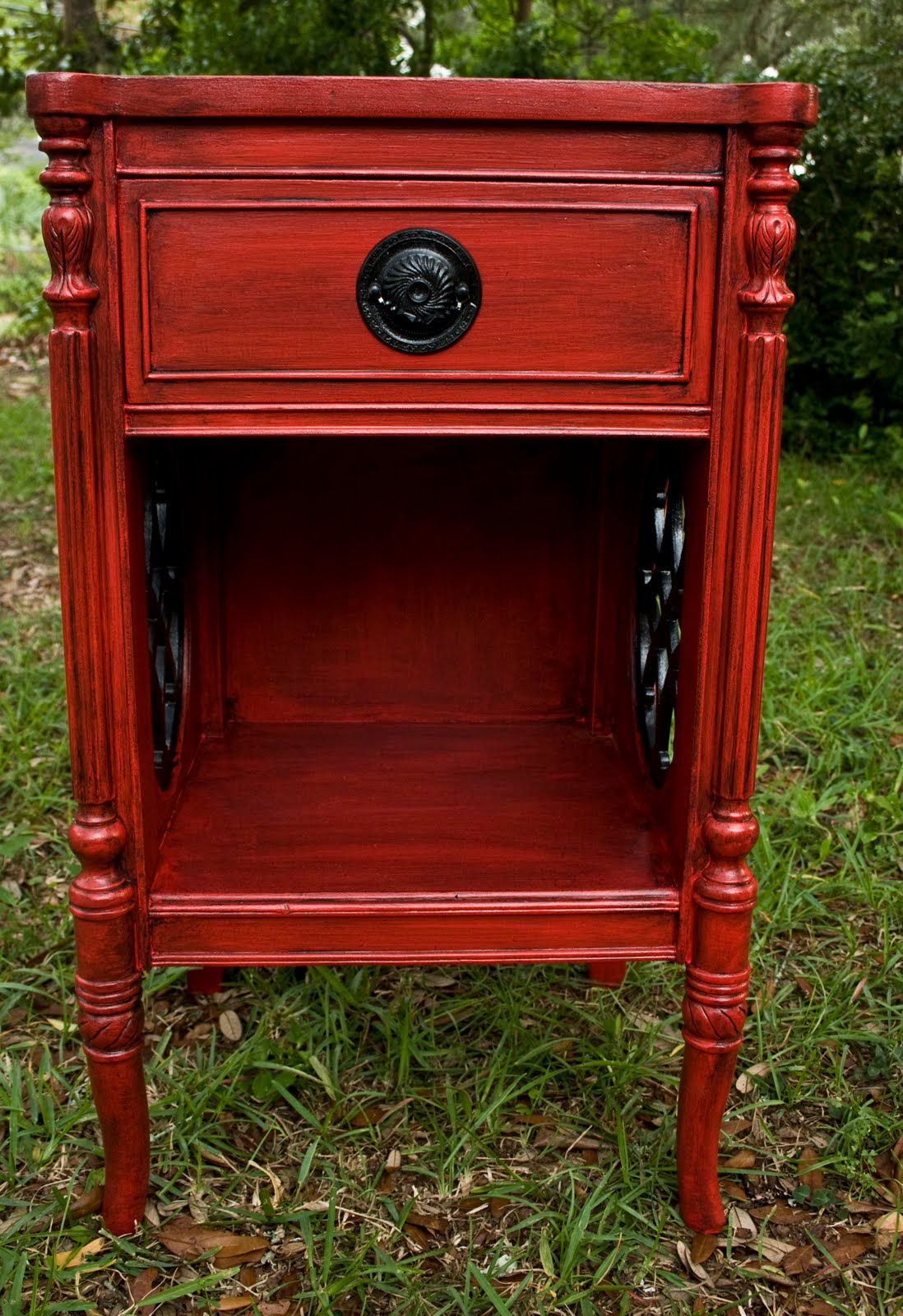 Modernly Shabby Chic Furniture Red And Black Glazed