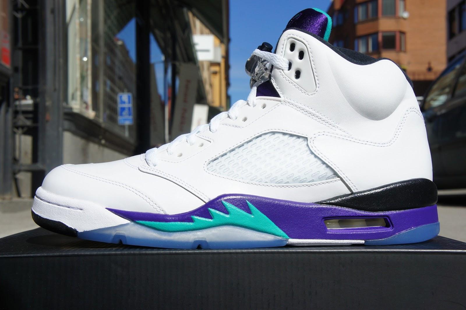 "Six Feet Down: Air Jordan 5 Retro ""Grapes"" Release 2013.05.04Jordan Grape 5 Black On Feet"