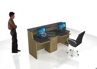Meja Customer aservices Kantor Sesuai Pesanan