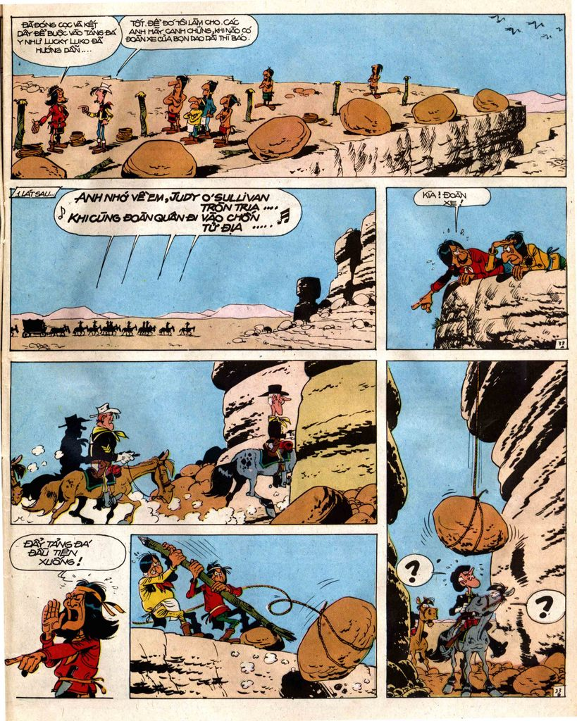 Lucky Luke tap 12 - khe vuc apache trang 33