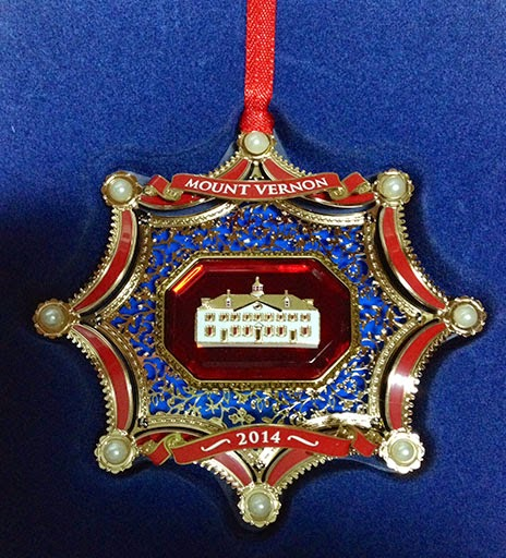 Souvenir Ornament from Mt Vernon, VA