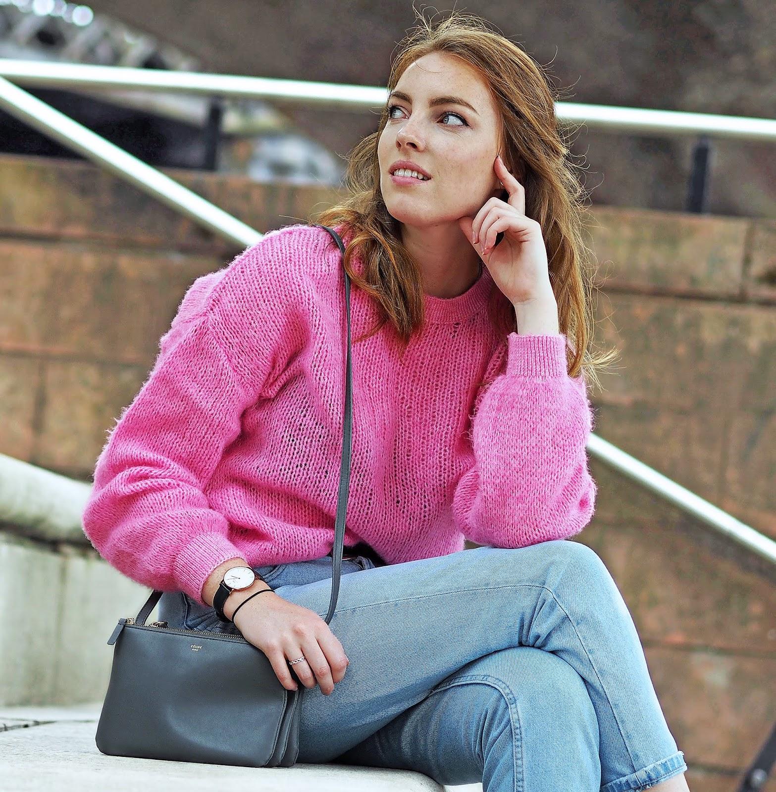 bershka pink knitwear