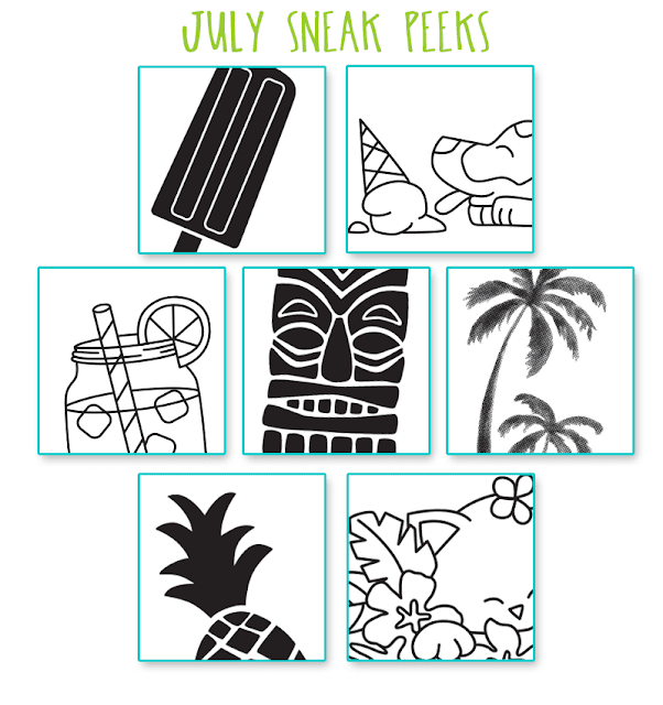 Sneak Peeks for Newton's Nook Designs 3 year celebration and new stamp release #newtonsnook