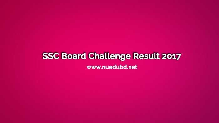 SSC Board Challenge Result 2017