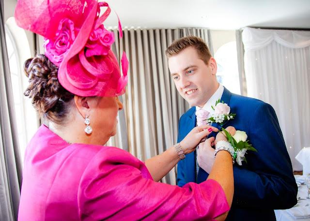 Wedding groom getting ready