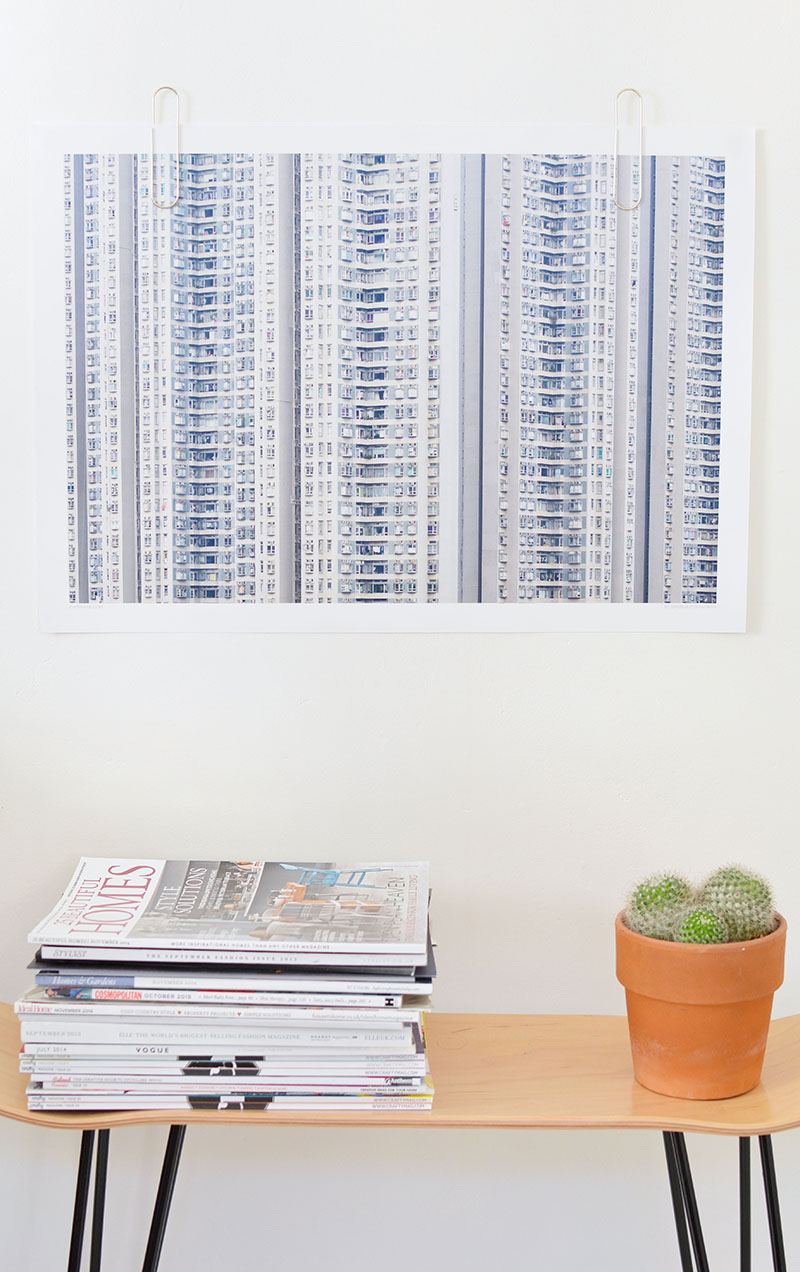 how to hang art without frames