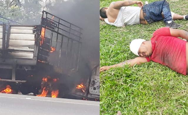 Fotos, Con bloqueos y enfrentamientos escoltas del líder Huachicolero El Bukanas logran escape de su jefe de los Marinos