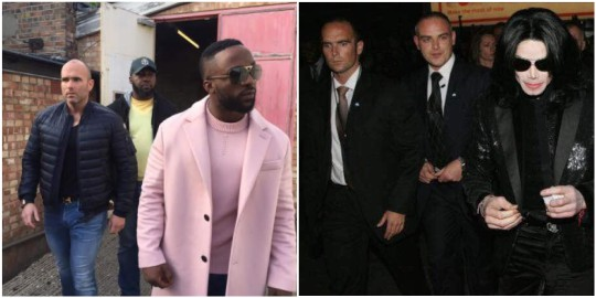 Iyanya spotted with Michael Jackson's bodyguard in London