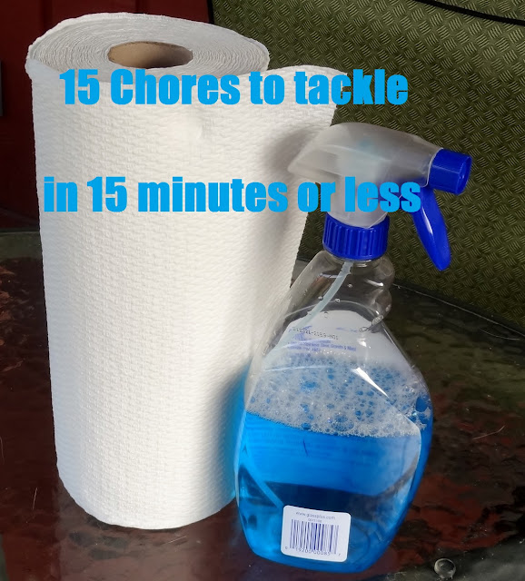 15 chores to tackle in 15 minutes or less