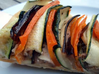 Gemuese Tarte mit Zucchini und Auberginen