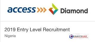 Access - Diamond Bank 2019 Entry Level Recruitment for all Graduates