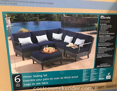 Costco 1500072 - Configure the Foremost 6-piece Woven Seating Set to your liking