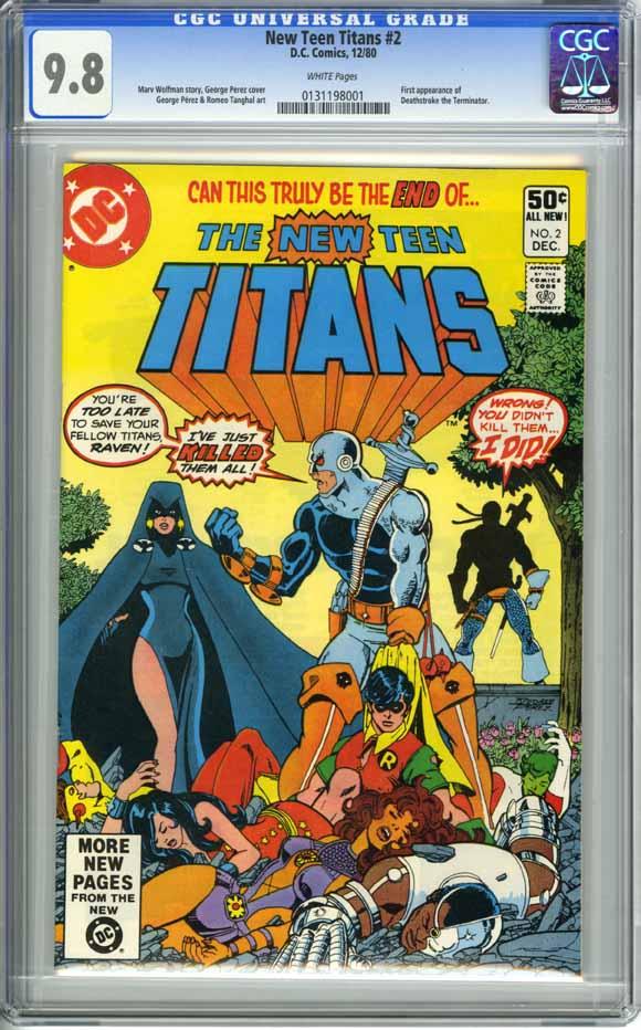 Graded Key Comics The New Teen Titans 2-1939
