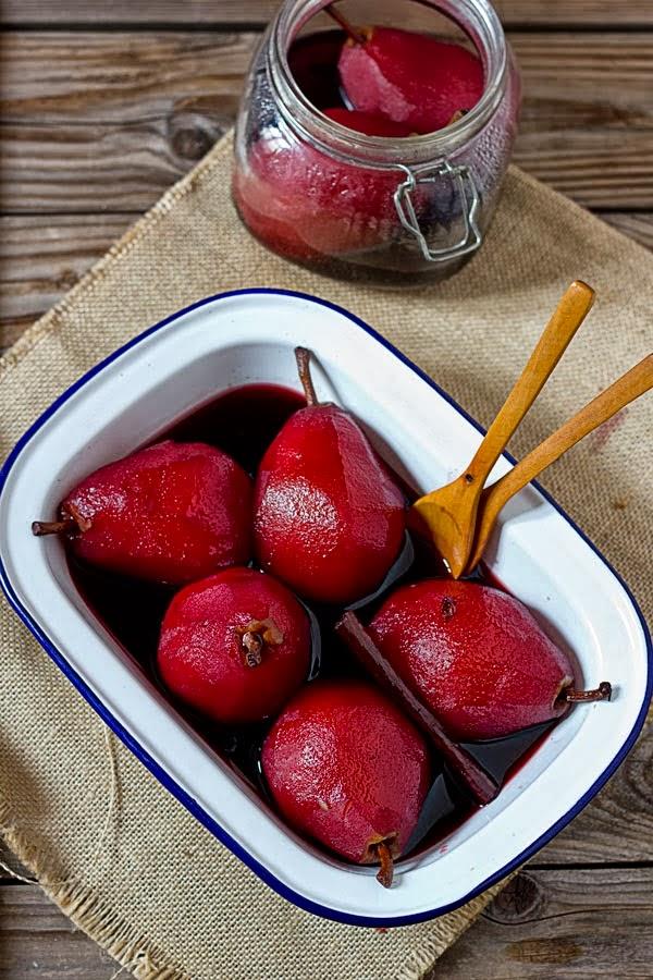 Receta del día: peras al vino