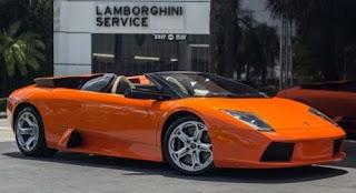 Gambar DP bbm Lamborghini Murcielago warna orange