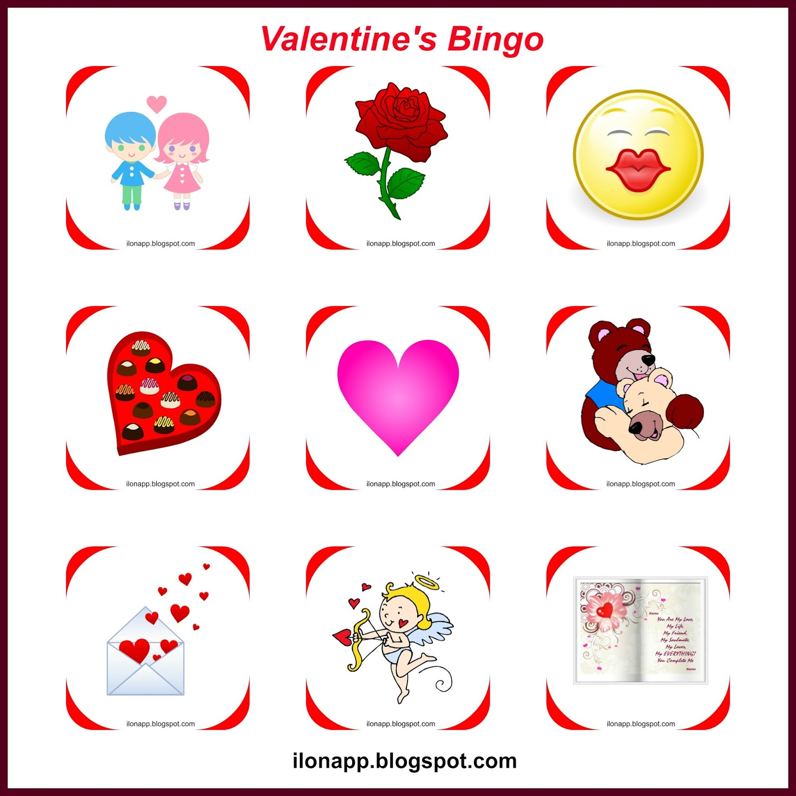 Valentine S Day Part 2 Bingo I Spy Tabboo Printables