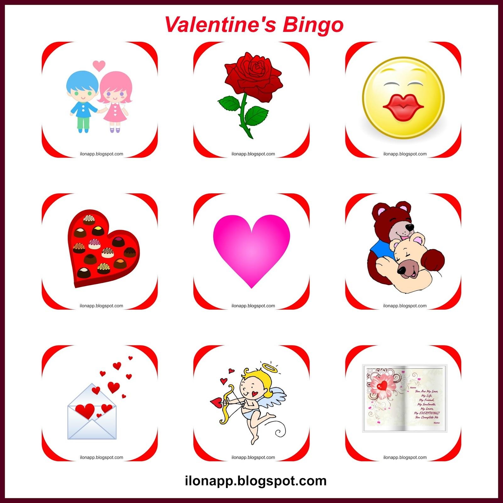 Valentine S Day Part 2 Bingo I Spy Tabboo Printables