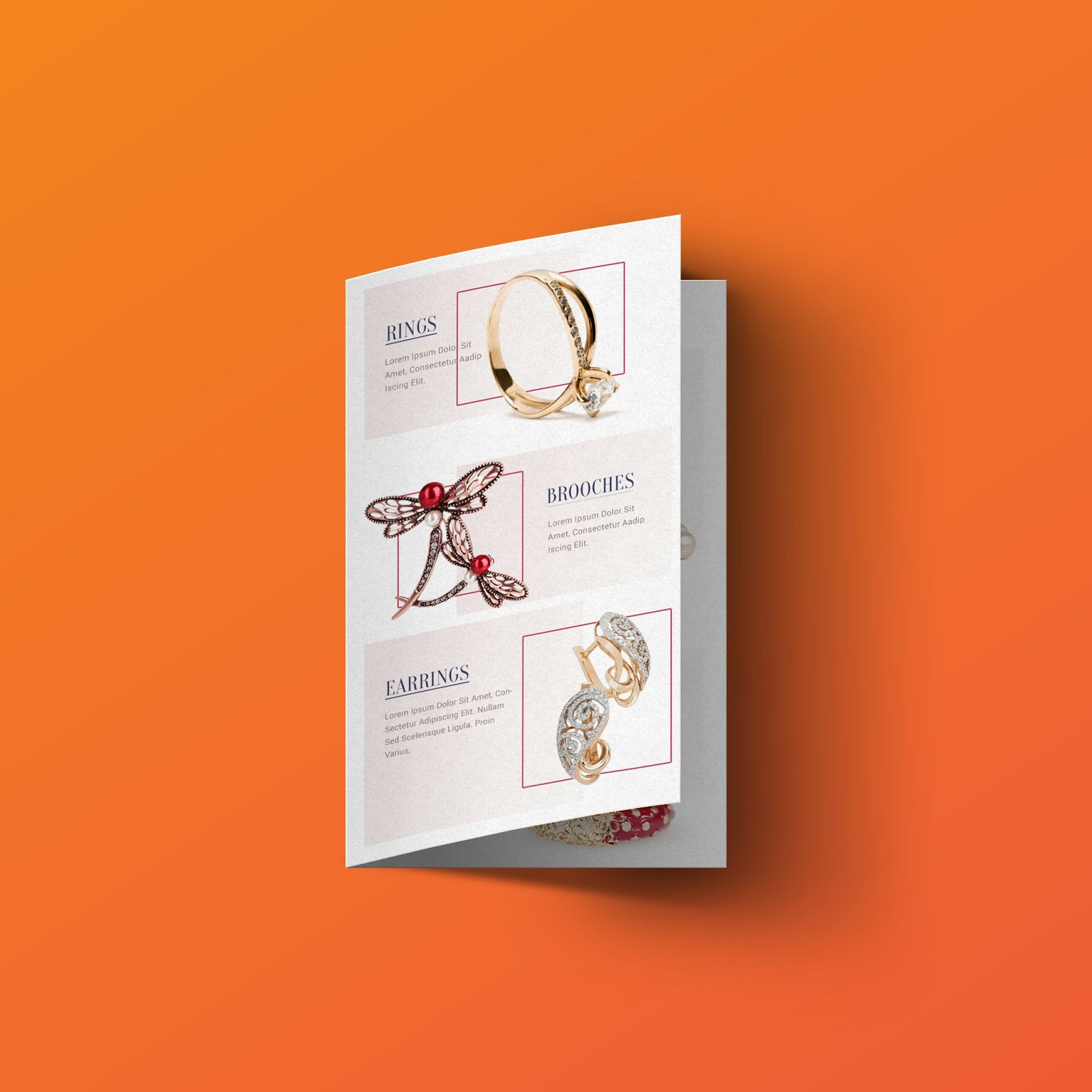 Jewellery Brochure Bi-Fold Templates PSD Free Download