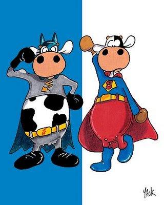 La chachipedia vacas toros y bueyes para colorear - Dessin vache humour ...