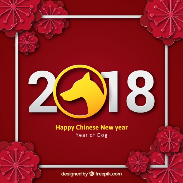 2018 chinese new year calendar Free Vector