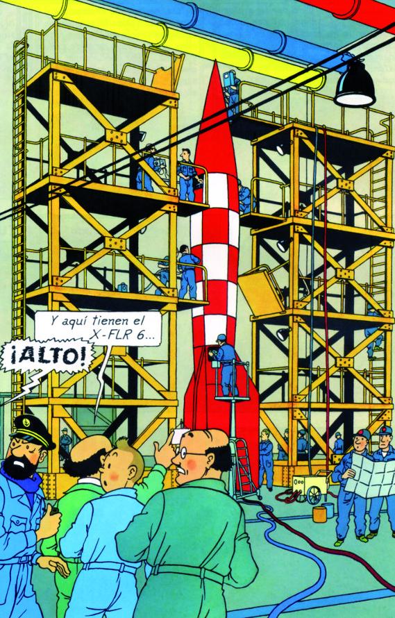 """Pas-à-pas : Vignette inspirée de l'album de  Tintin """"Objectif Lune"""" - Page 2 Les%2BAventures%2Bde%2BTintin%2B%25E2%2580%2593%2BObjectif%2BLune%2Bextrait%2B2"""