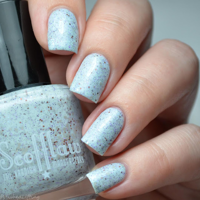 pale blue crelly nail polish