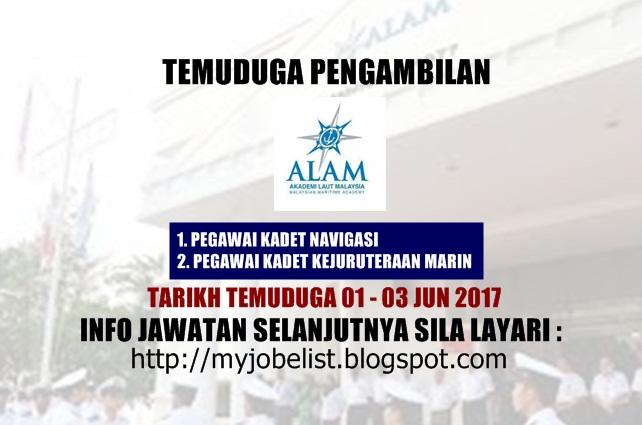 Temuduga Terbuka di Akademi Laut Malaysia (ALAM) Jun 2017