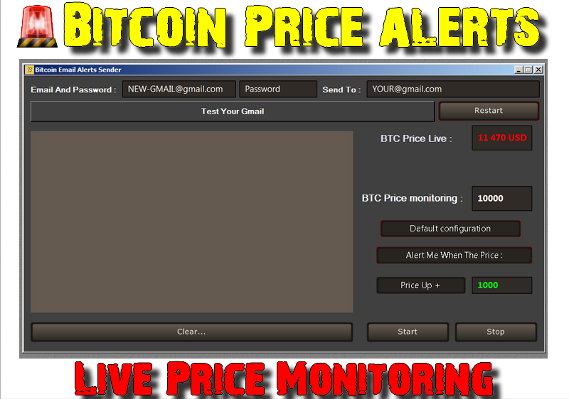 Free Software for Bitcoin Price alerts