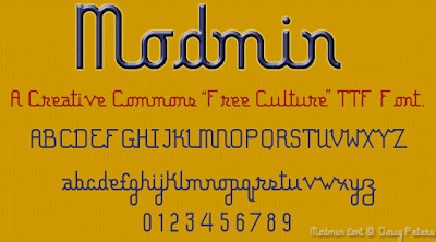 Modmin Creative Commons Freeware Font