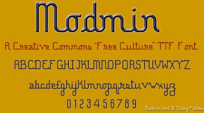 Modmin Creative Commons Freeware Font