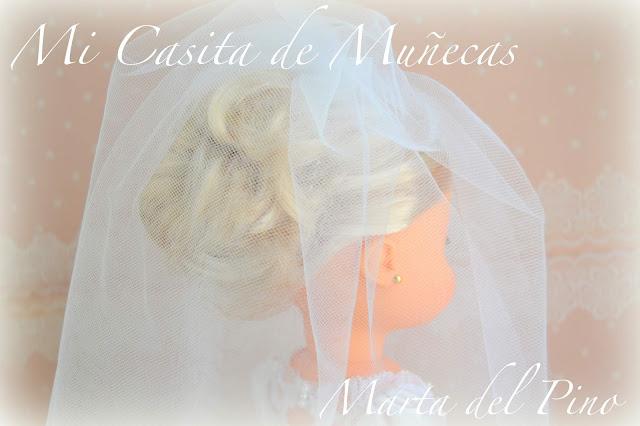 Mi Casita de Muñecas, Marta del Pino, muñeca de comunión, nancy comunión, Nancy y sus vestidos, OOAK, vestido de comunión, vestido novia, replica vestido novia, boda