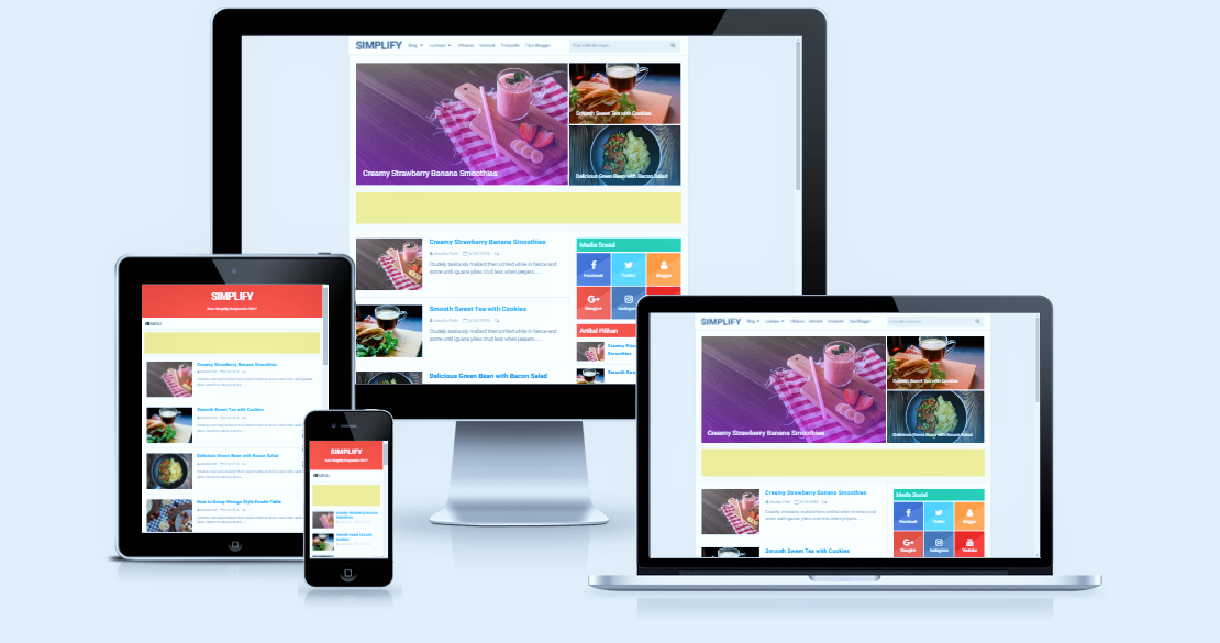Simplify Responsive Blogger Template Premium V4.1
