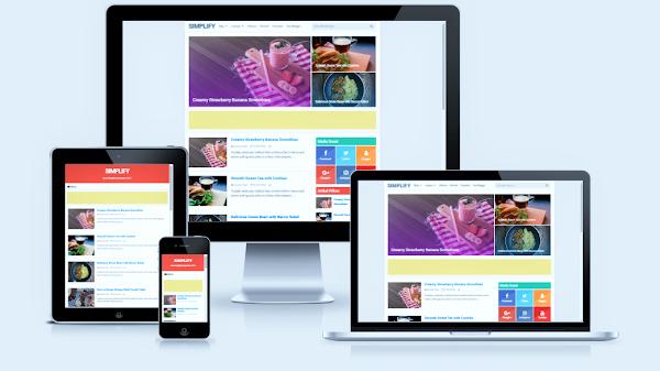 Simplify 2 Responsive Blogger Template Premium V4.1