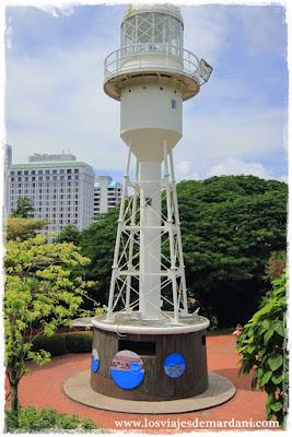 Uno de los primeros faros de Singapur