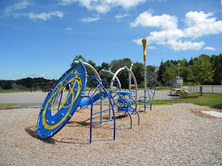 Playground equipment at Rockport Camden Elementary School