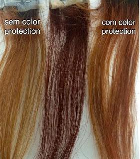Mechas de cabelo ruivo colorido