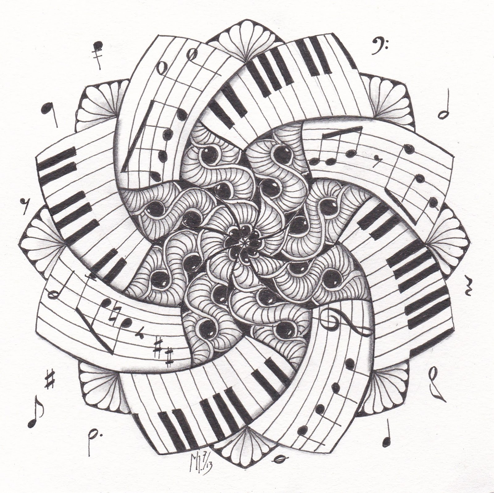 musical keyboard coloring pages - photo#34
