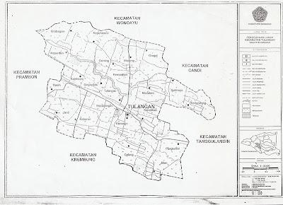 SEDOT WC SIDOARJO TULANGAN 0822-2819-9997 Peta Kecamatan Tulangan