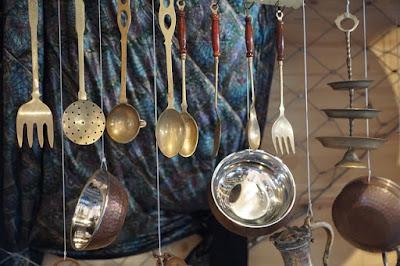 utensilios en la cocina de la abuela