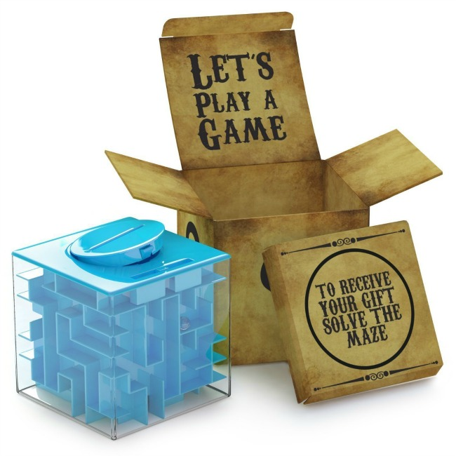 Money maze puzzle box. Unique Christmas Gifts Under £30 for men, women, teenagers, tweens, boys, girls, kids.