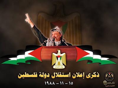 Arafat declara o Estado da Palestina independente