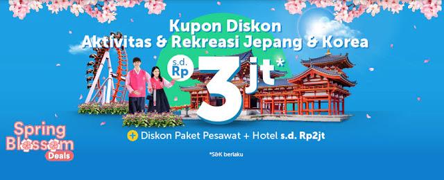 #Traveloka - #Promo Kupon Diskon Aktifitas & Rekreasi Jepang & Korea (s.d 07 April 2019)