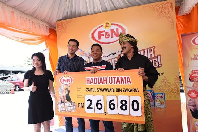 Menang Wang Tunai RM26680 Bersama Teh Tarik Hang Tarik F&N