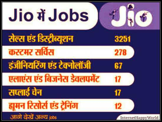 reliance jio recruitment 2017 apply online
