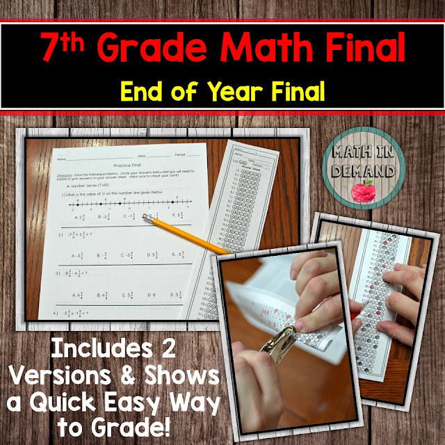 7th Grade Math Comprehensive Final