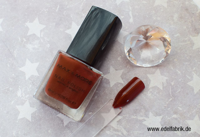 die Edelfabrik, Review der Marke Max + More Nagellack von action, Swatch